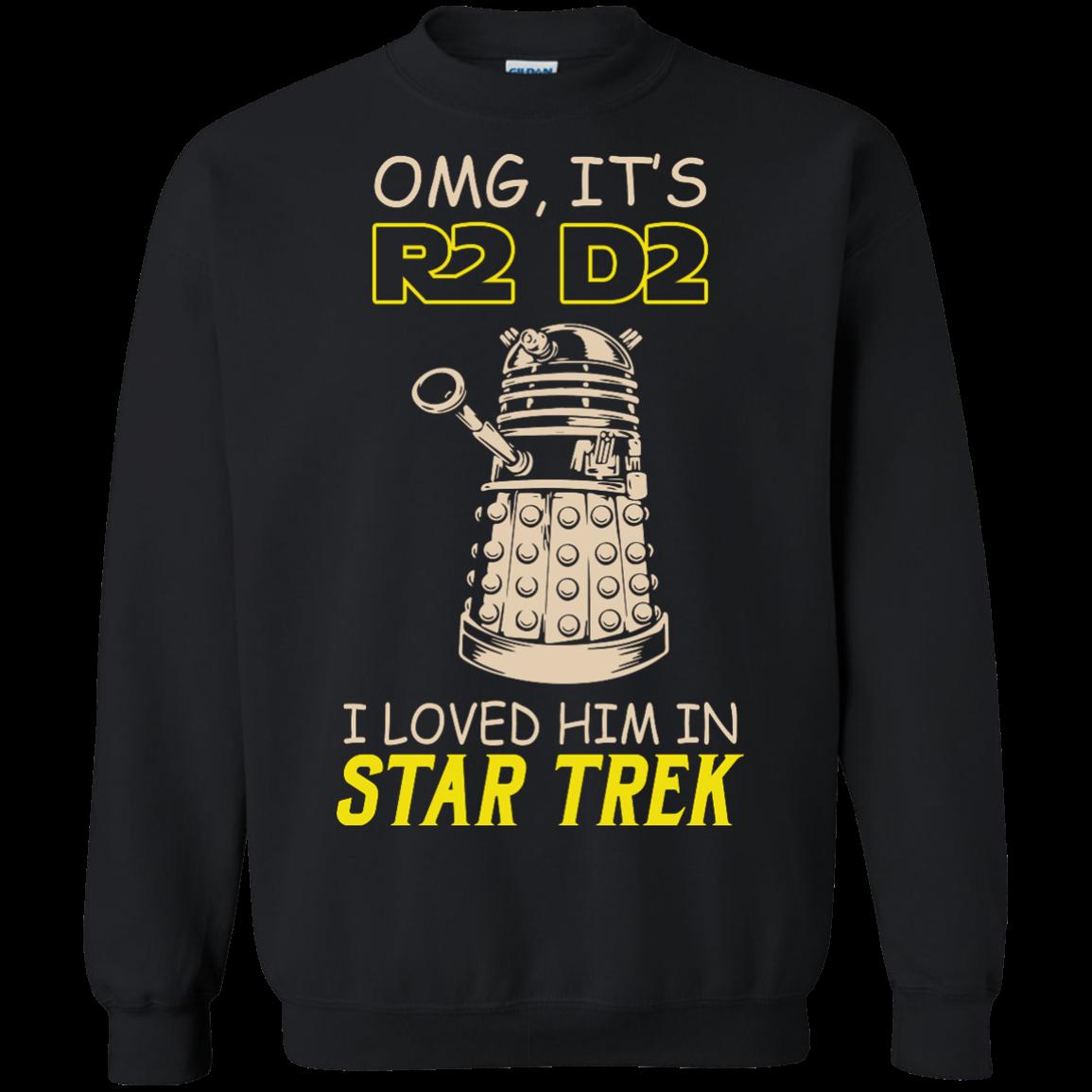 image 441px Omg It's R2 D2 I Loved Him In Star Trek T Shirts, Hoodies, Tank
