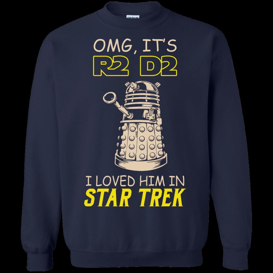 image 442px Omg It's R2 D2 I Loved Him In Star Trek T Shirts, Hoodies, Tank