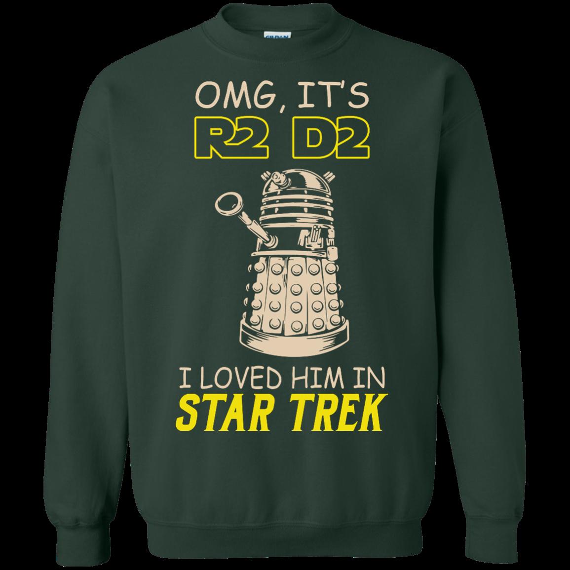 image 443px Omg It's R2 D2 I Loved Him In Star Trek T Shirts, Hoodies, Tank