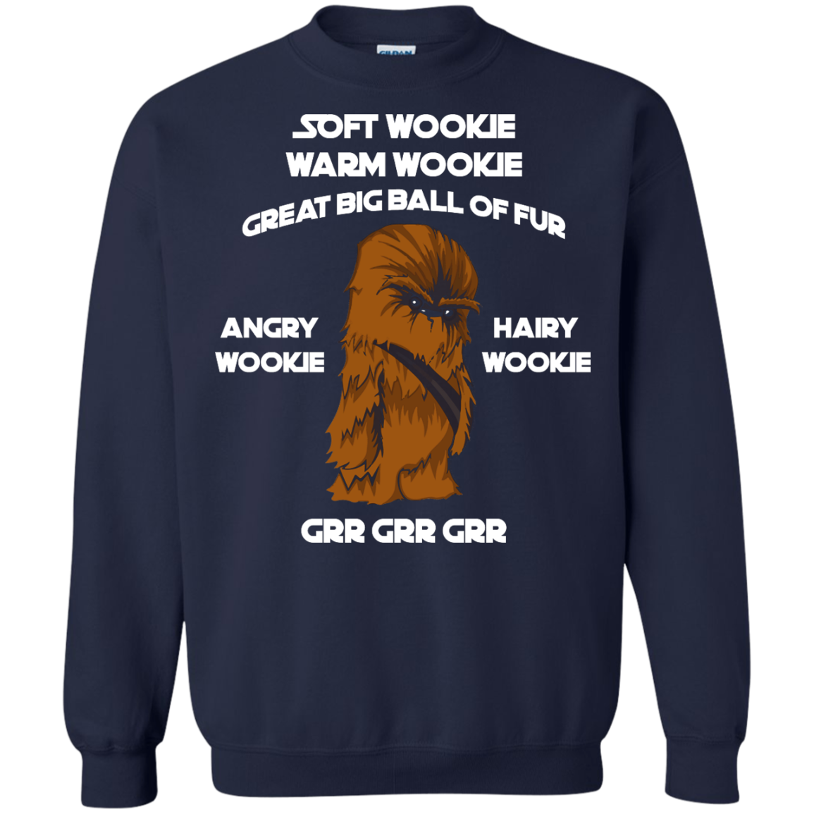 image 45px Star Wars: Soft Wookie Warm Wookie Great Big Ball Of Fur Angry Wookie Hairy Wookie T Shirts