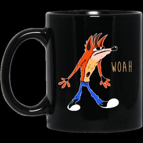image 459 490x490px Crash Bandicoot Woah Coffee Mug