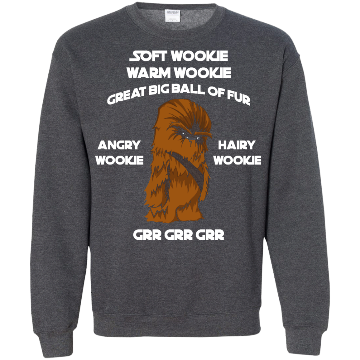 image 46px Star Wars: Soft Wookie Warm Wookie Great Big Ball Of Fur Angry Wookie Hairy Wookie T Shirts