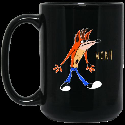 image 460 490x490px Crash Bandicoot Woah Coffee Mug