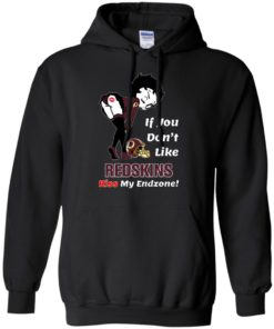 image 463 247x296px Betty Boop If you don't like Redskins kiss my endzone t shirt, hoodies, tank