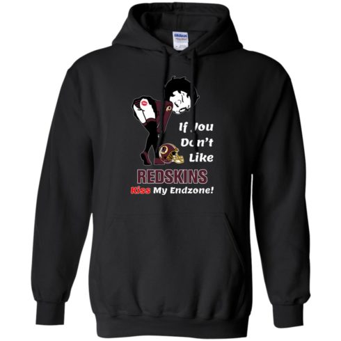 image 463 490x490px Betty Boop If you don't like Redskins kiss my endzone t shirt, hoodies, tank