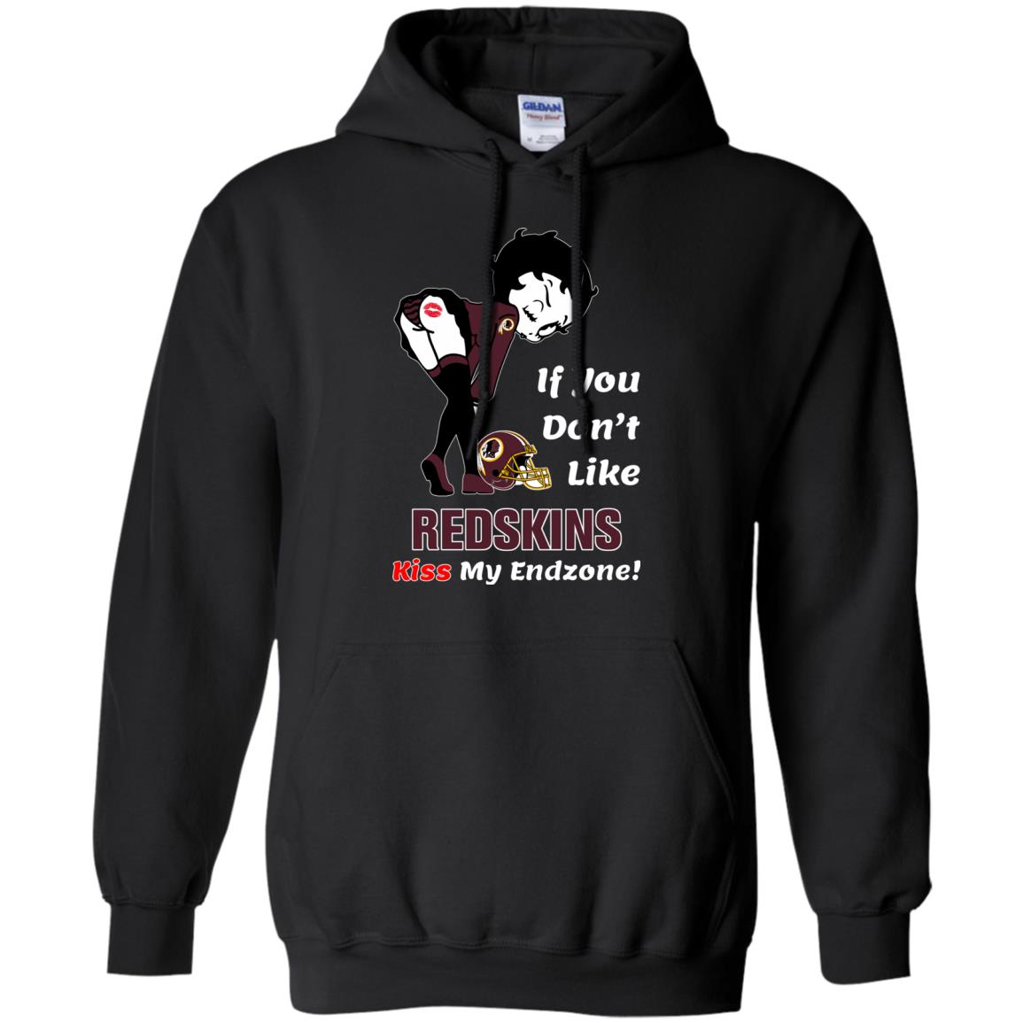 image 463px Betty Boop If you don't like Redskins kiss my endzone t shirt, hoodies, tank