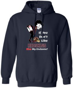 image 464 247x296px Betty Boop If you don't like Redskins kiss my endzone t shirt, hoodies, tank