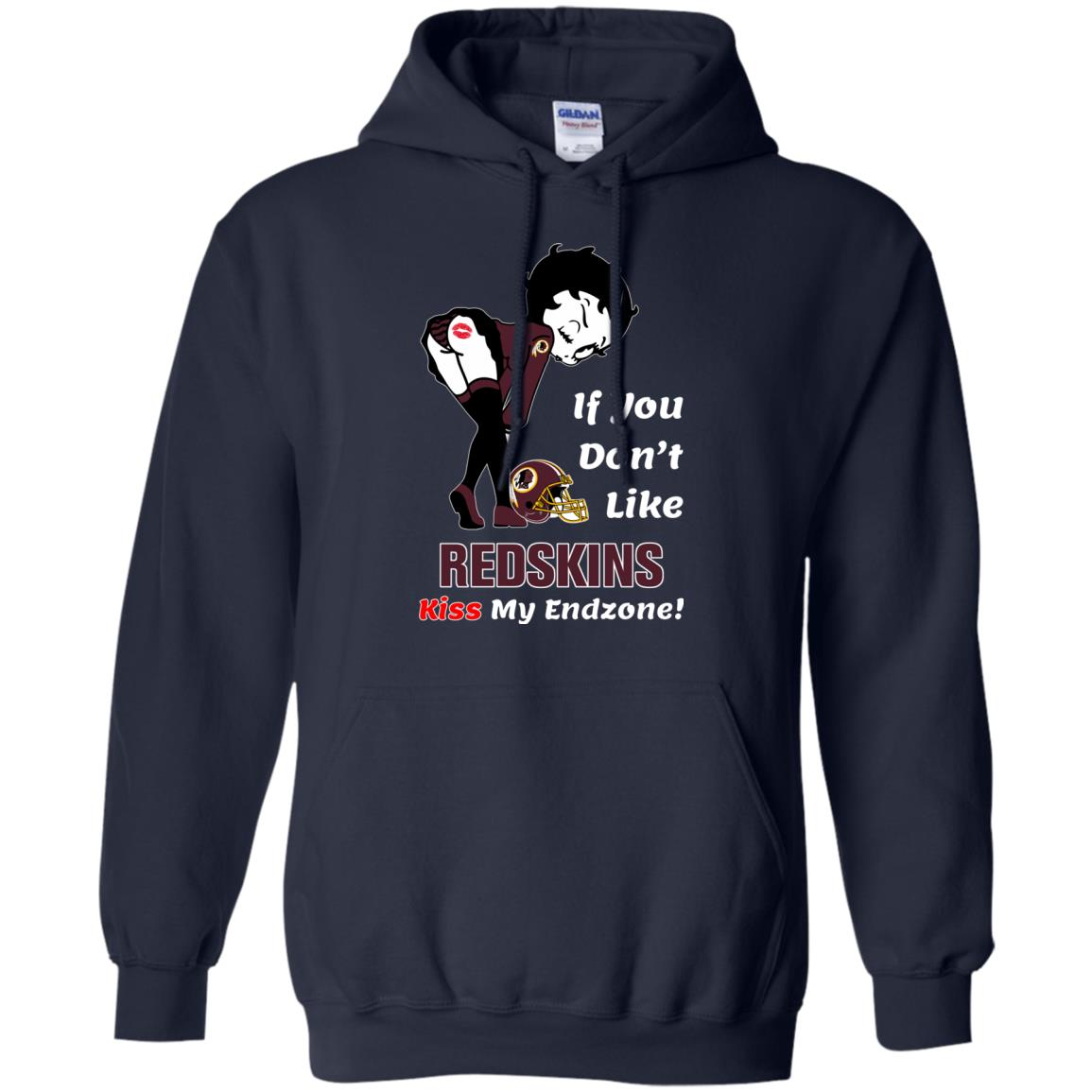 image 464px Betty Boop If you don't like Redskins kiss my endzone t shirt, hoodies, tank