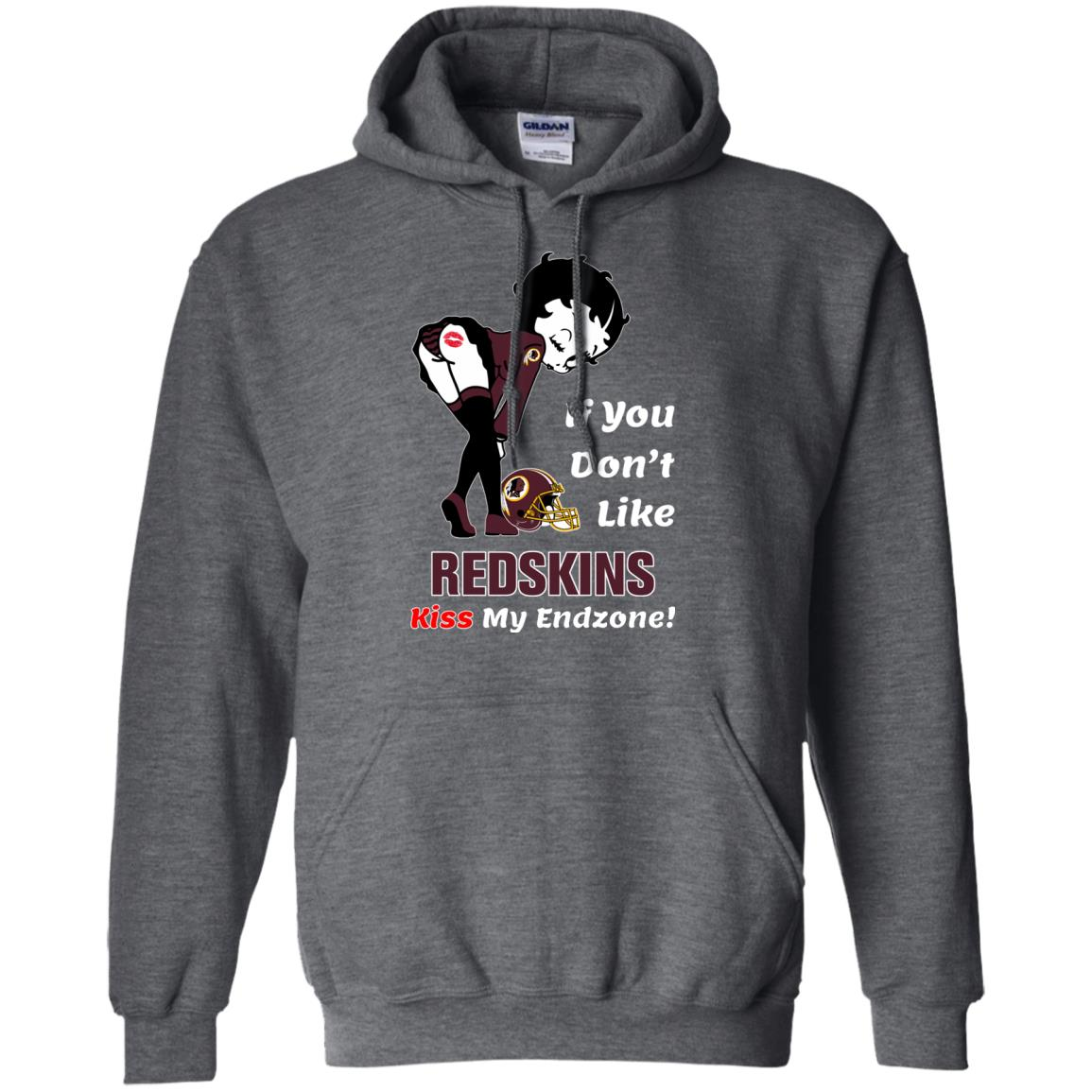 image 465px Betty Boop If you don't like Redskins kiss my endzone t shirt, hoodies, tank