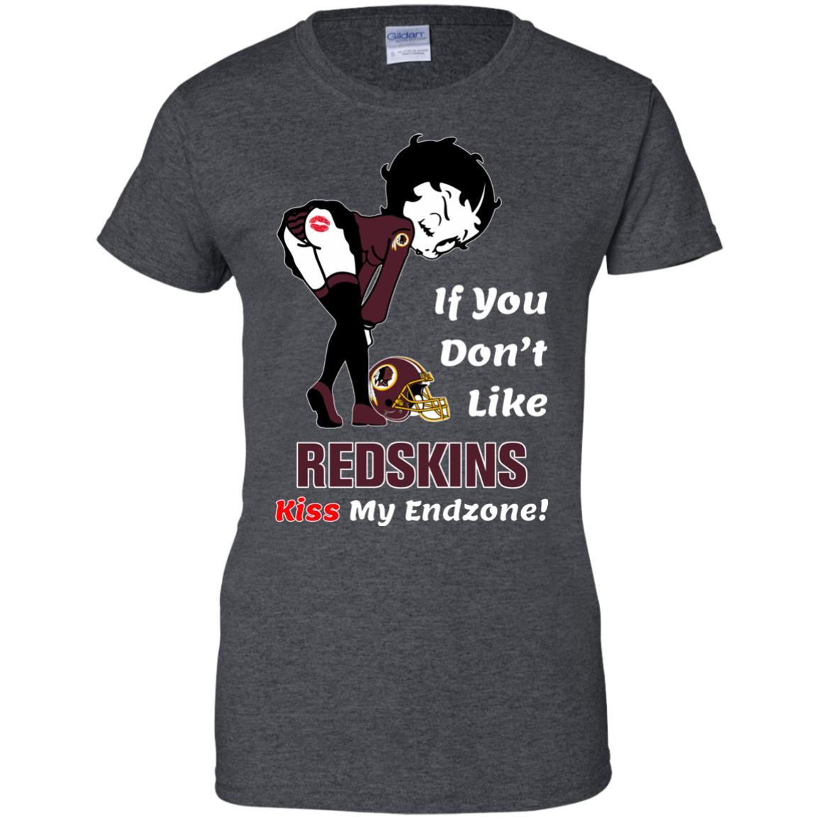 image 467px Betty Boop If you don't like Redskins kiss my endzone t shirt, hoodies, tank