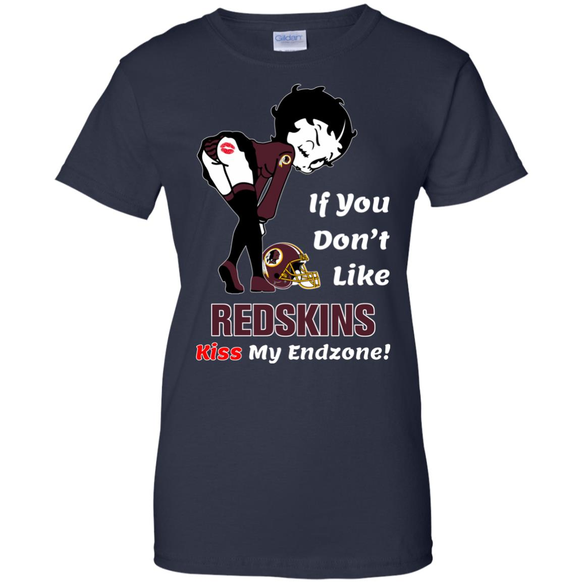 image 468px Betty Boop If you don't like Redskins kiss my endzone t shirt, hoodies, tank