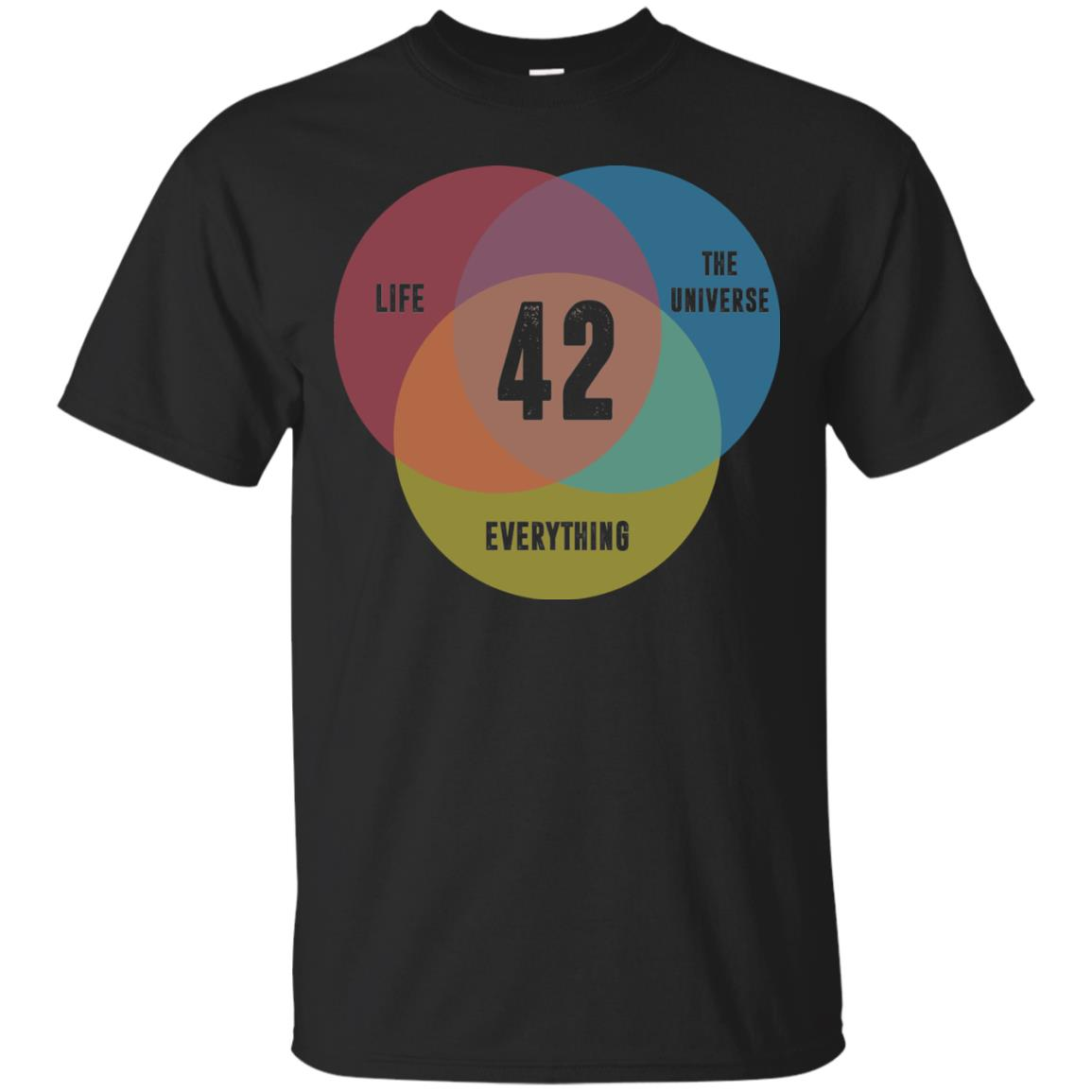 image 469px Venn Diagram: 42 Life, the Universe & Everything T Shirt