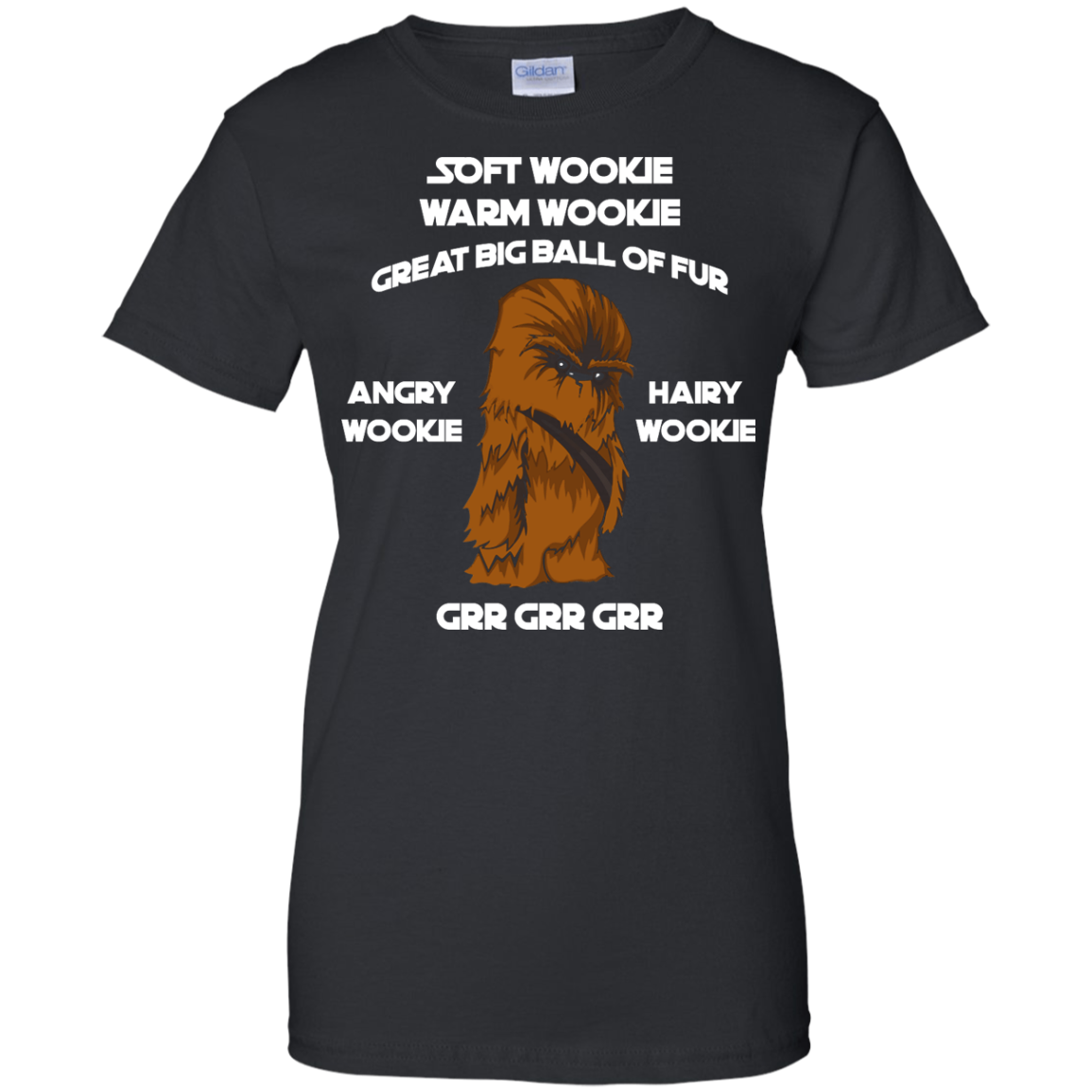 image 47px Star Wars: Soft Wookie Warm Wookie Great Big Ball Of Fur Angry Wookie Hairy Wookie T Shirts