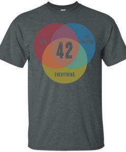 image 470 247x296px Venn Diagram: 42 Life, the Universe & Everything T Shirt