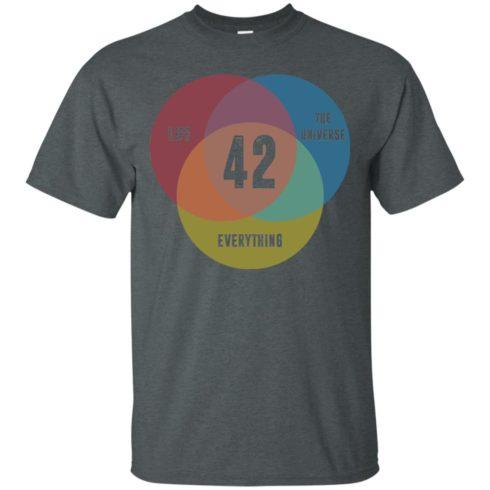 image 470 490x490px Venn Diagram: 42 Life, the Universe & Everything T Shirt