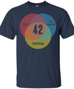 image 471 247x296px Venn Diagram: 42 Life, the Universe & Everything T Shirt
