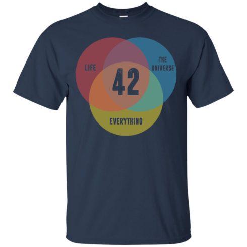 image 471 490x490px Venn Diagram: 42 Life, the Universe & Everything T Shirt