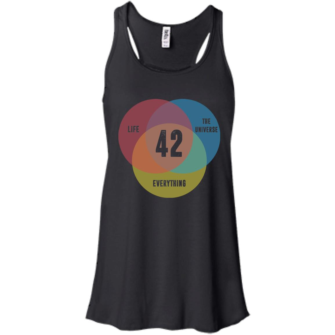 image 472px Venn Diagram: 42 Life, the Universe & Everything T Shirt