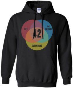 image 474 247x296px Venn Diagram: 42 Life, the Universe & Everything T Shirt