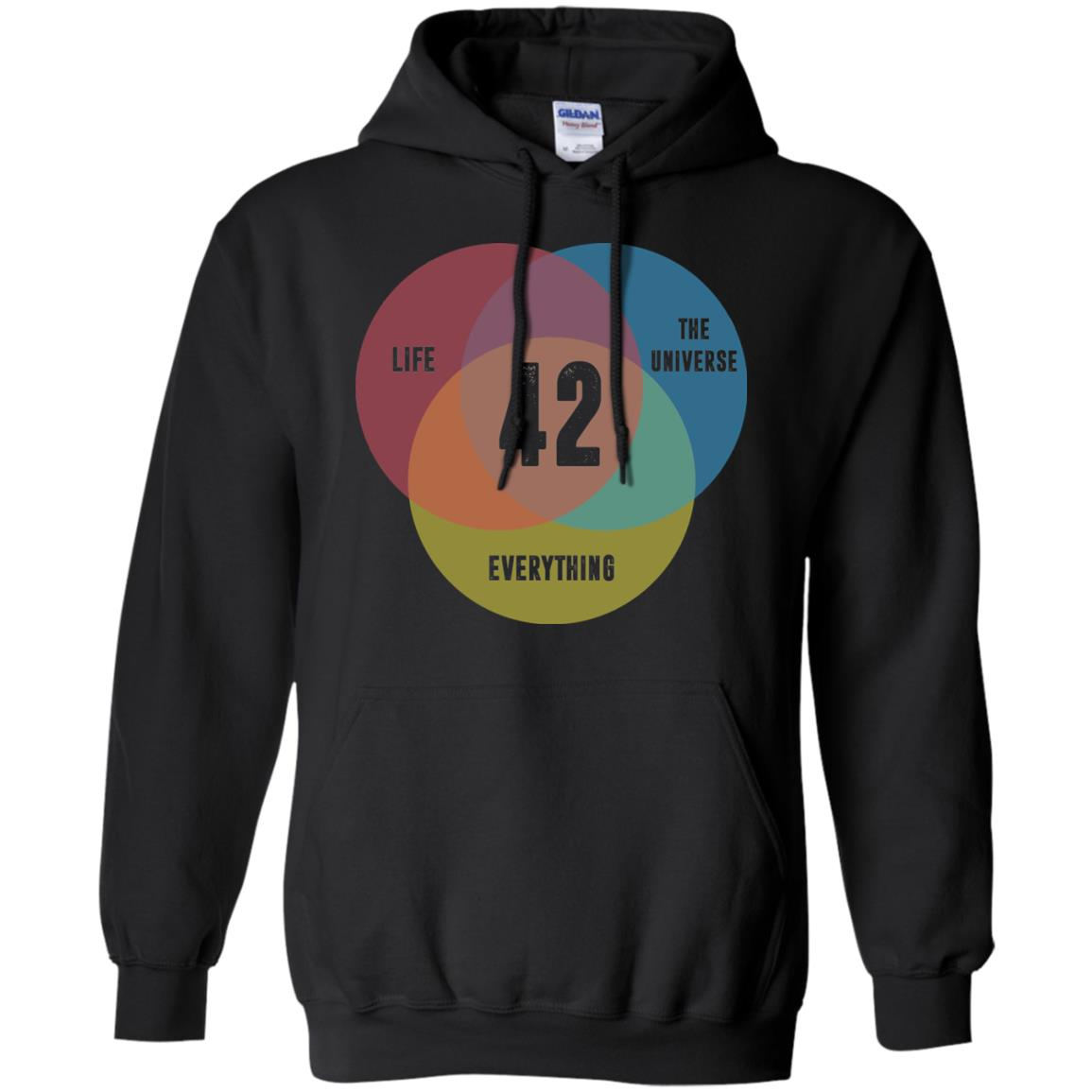 image 474px Venn Diagram: 42 Life, the Universe & Everything T Shirt