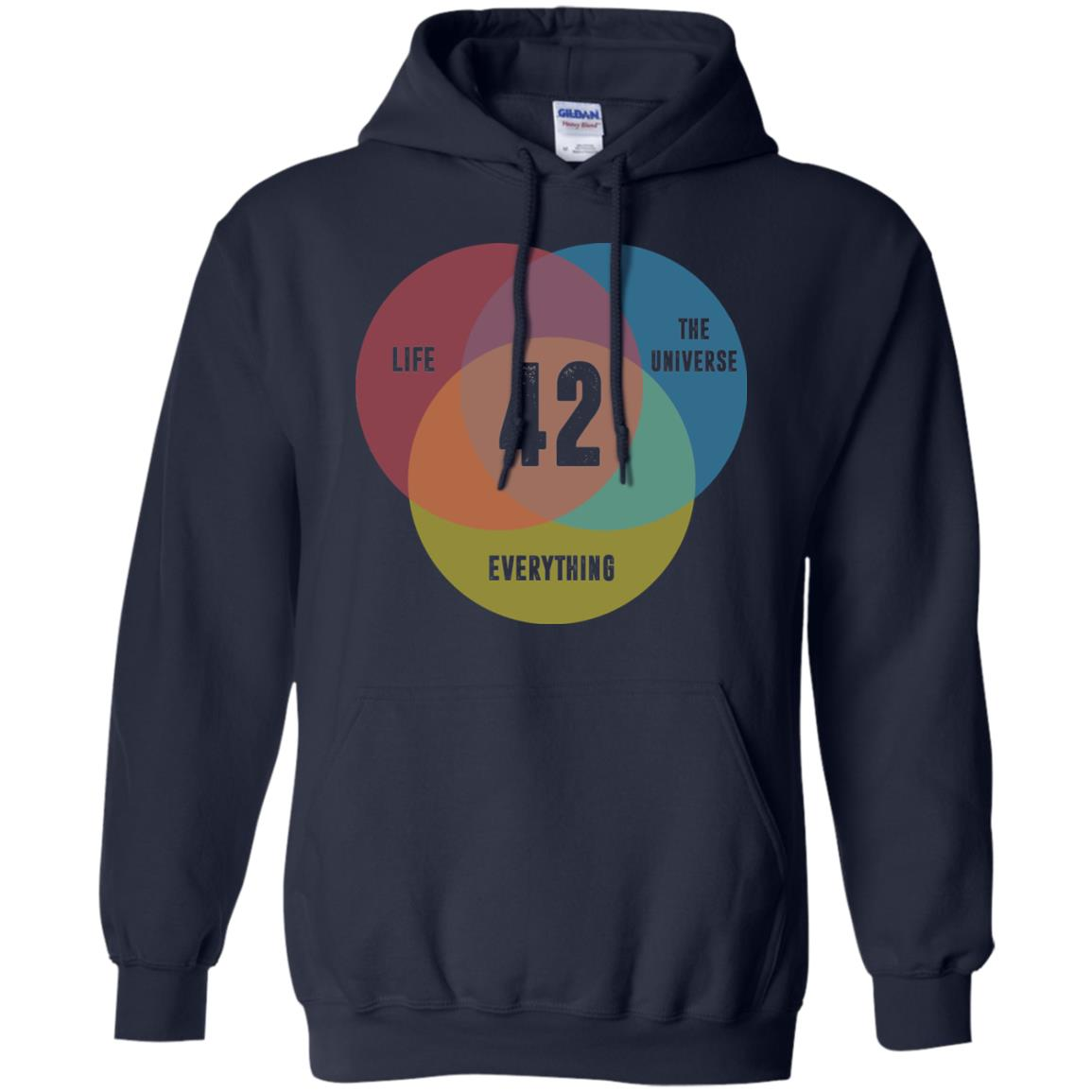 image 475px Venn Diagram: 42 Life, the Universe & Everything T Shirt