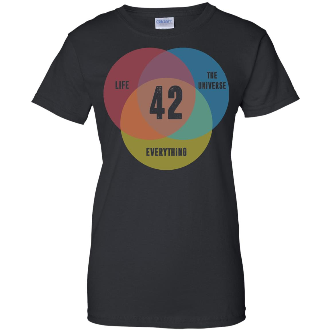 image 477px Venn Diagram: 42 Life, the Universe & Everything T Shirt