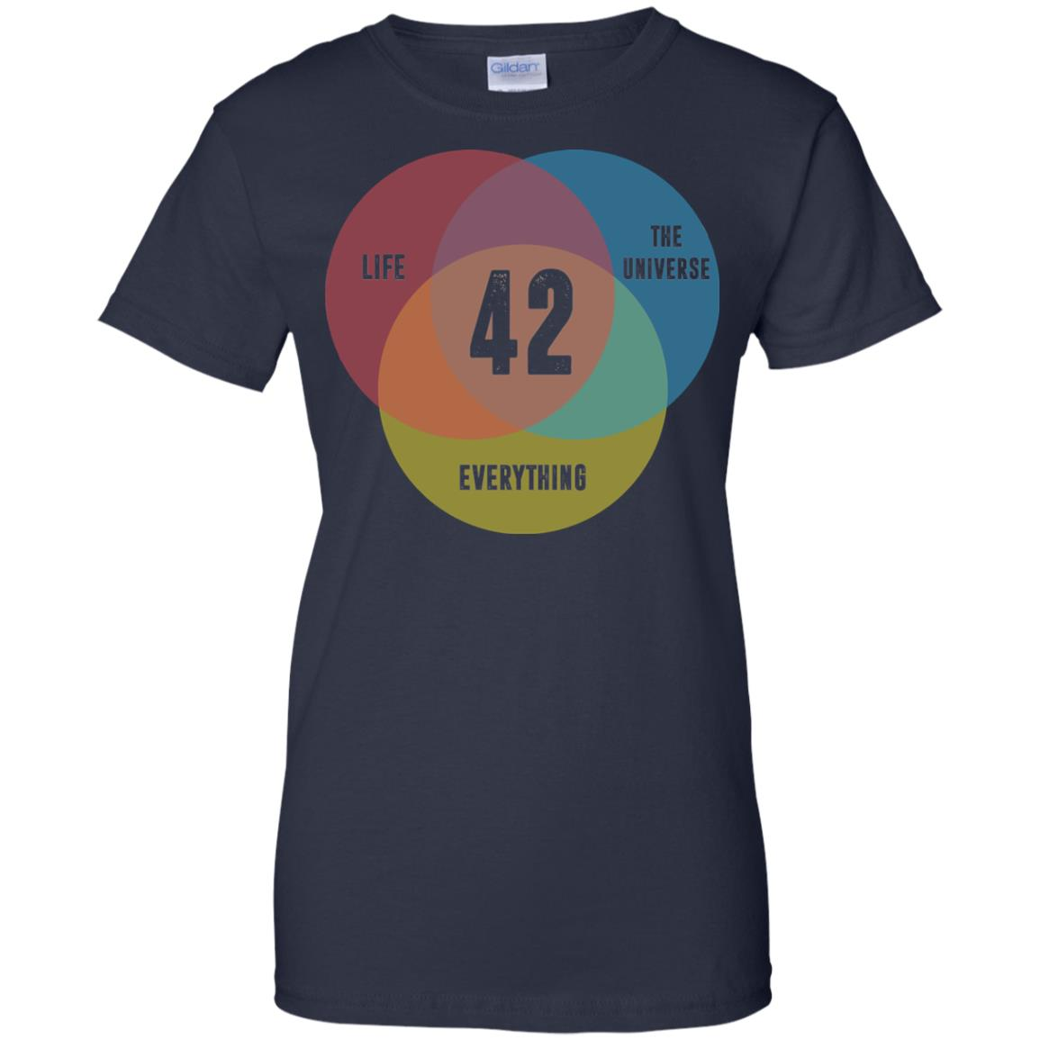 image 479px Venn Diagram: 42 Life, the Universe & Everything T Shirt