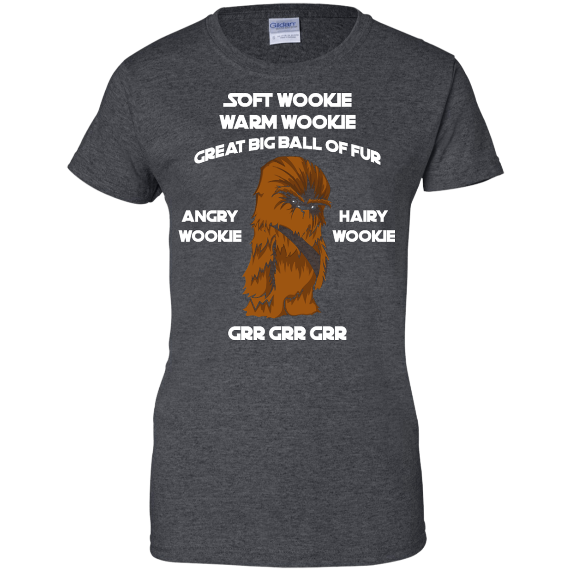 image 48px Star Wars: Soft Wookie Warm Wookie Great Big Ball Of Fur Angry Wookie Hairy Wookie T Shirts