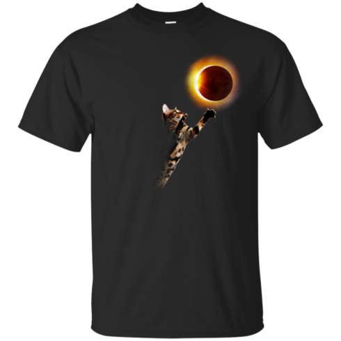 image 532 490x490px Cat Total Solar Eclipse 2017 T Shirts, Hoodies, Sweater, Tank