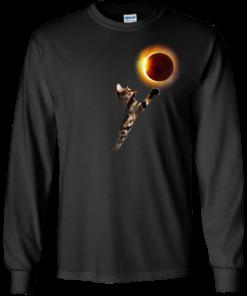 image 534 247x296px Cat Total Solar Eclipse 2017 T Shirts, Hoodies, Sweater, Tank