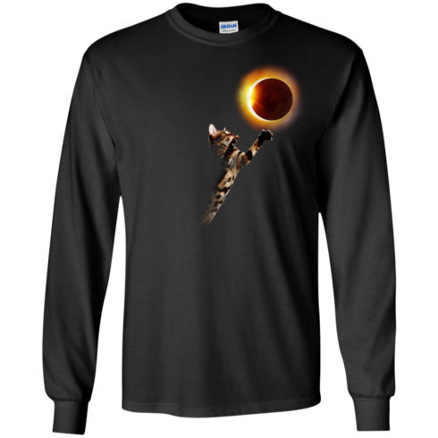 image 534 490x490px Cat Total Solar Eclipse 2017 T Shirts, Hoodies, Sweater, Tank