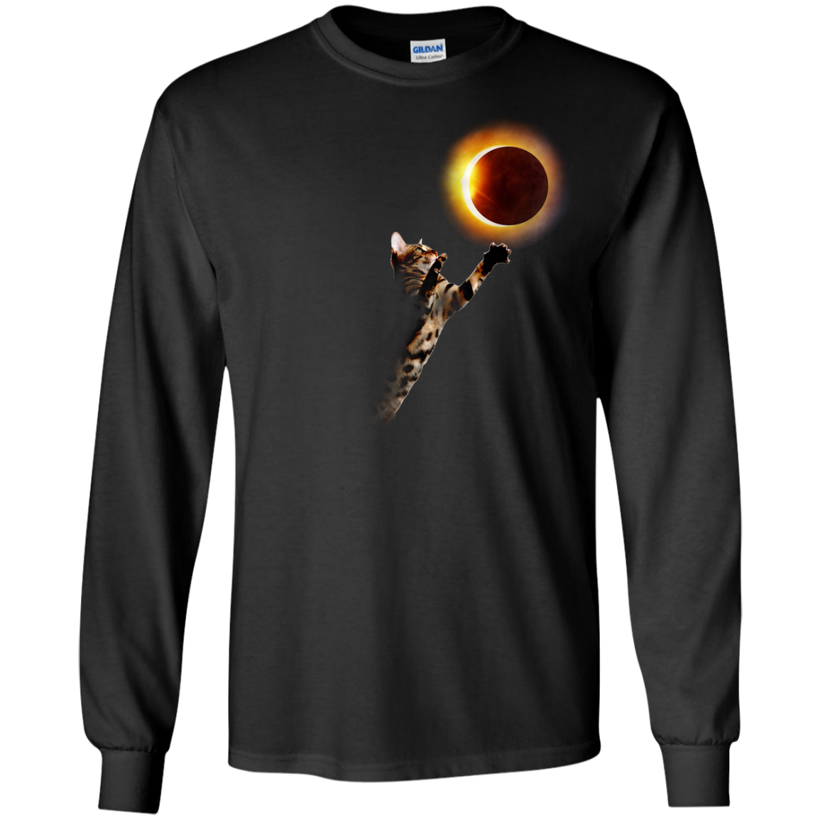 image 534px Cat Total Solar Eclipse 2017 T Shirts, Hoodies, Sweater, Tank