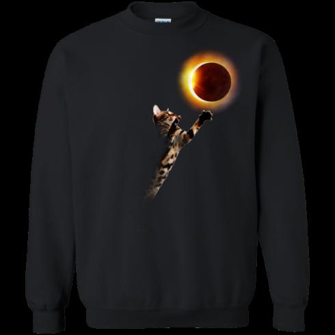 image 536 490x490px Cat Total Solar Eclipse 2017 T Shirts, Hoodies, Sweater, Tank