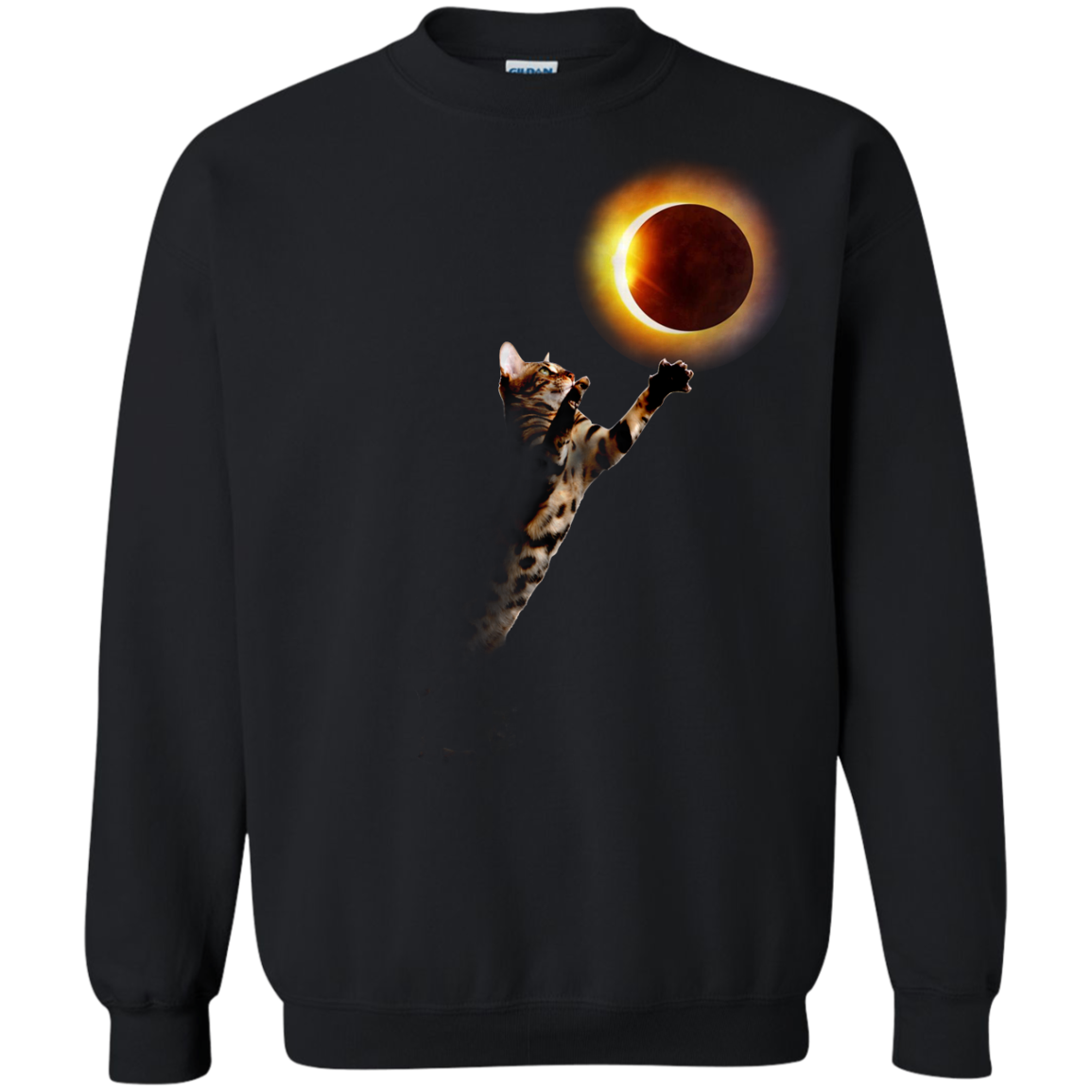 image 536px Cat Total Solar Eclipse 2017 T Shirts, Hoodies, Sweater, Tank