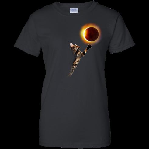 image 538 490x490px Cat Total Solar Eclipse 2017 T Shirts, Hoodies, Sweater, Tank