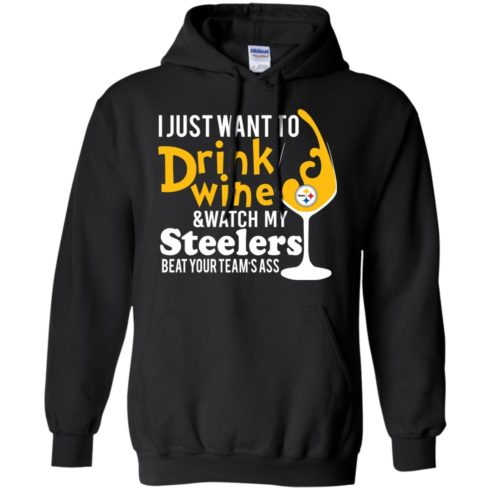 image 540 490x490px I just want to drink wine & watch my Steelers beat your team's ass t shirts, hoodies, tank top