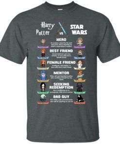 image 547 247x296px Harry Potter vs Star Wars: Hero, Best Friend, Female Friend T Shirts, Hoodies, Tank