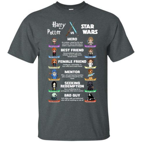 image 547 490x490px Harry Potter vs Star Wars: Hero, Best Friend, Female Friend T Shirts, Hoodies, Tank