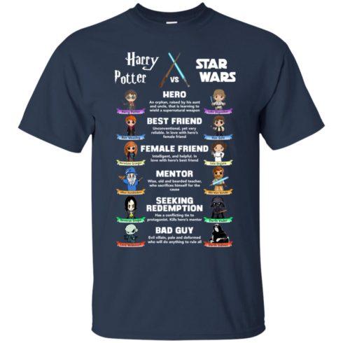 image 548 490x490px Harry Potter vs Star Wars: Hero, Best Friend, Female Friend T Shirts, Hoodies, Tank