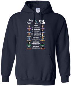 image 552 247x296px Harry Potter vs Star Wars: Hero, Best Friend, Female Friend T Shirts, Hoodies, Tank