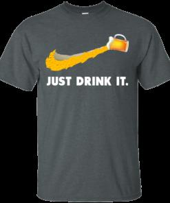image 566 247x296px Love Beer: Just Drink It Nike Logo T Shirts, Hoodies, Tank Top