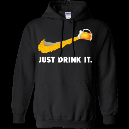 image 570 490x490px Love Beer: Just Drink It Nike Logo T Shirts, Hoodies, Tank Top