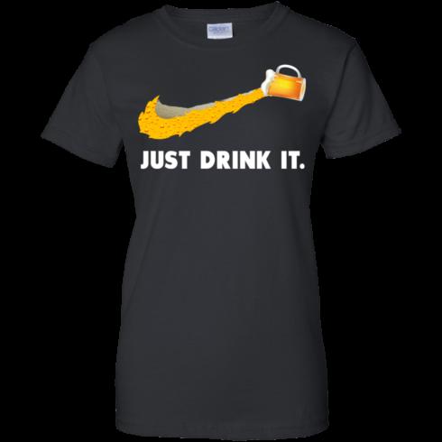 image 573 490x490px Love Beer: Just Drink It Nike Logo T Shirts, Hoodies, Tank Top