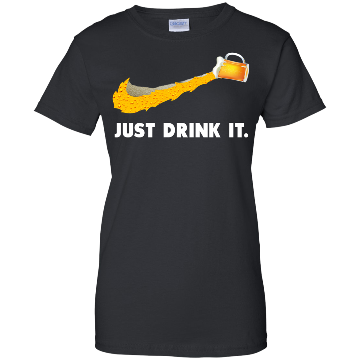 image 573px Love Beer: Just Drink It Nike Logo T Shirts, Hoodies, Tank Top