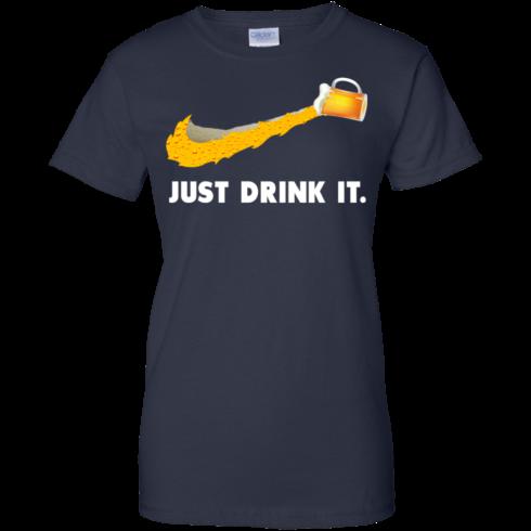 image 575 490x490px Love Beer: Just Drink It Nike Logo T Shirts, Hoodies, Tank Top