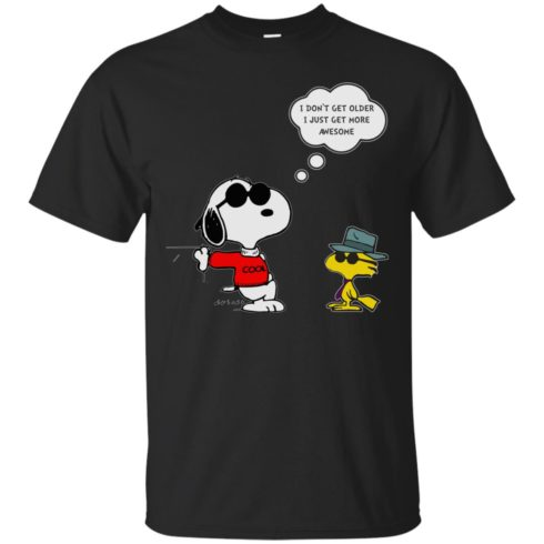 image 623 490x490px Snoopy I dont get older I just get more awesome t shirts, hoodies, tank