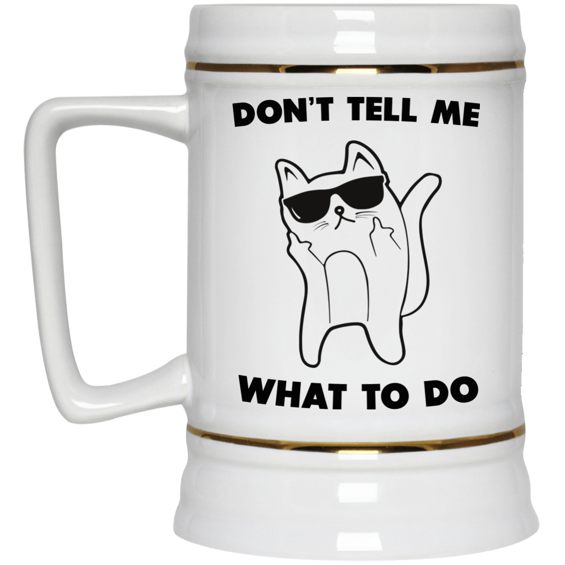 image 76px Don't Tell Me What To Do Funny Cat Coffee Mug