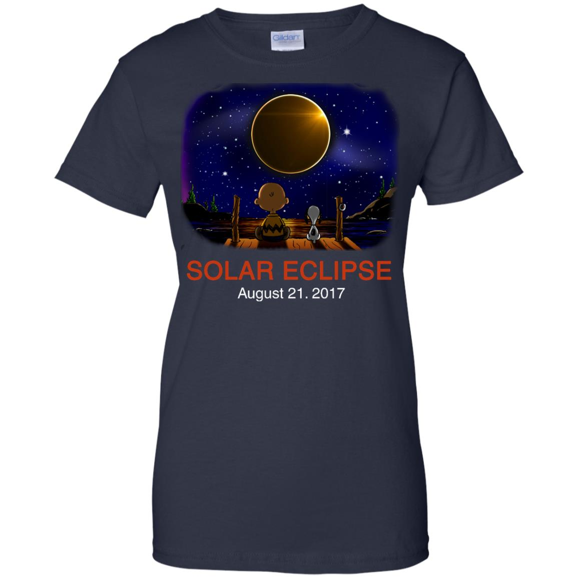 image 82px Total Solar Eclipse 2017 – Snoopy And Charlie Brown T Shirts, Hoodies, Tank