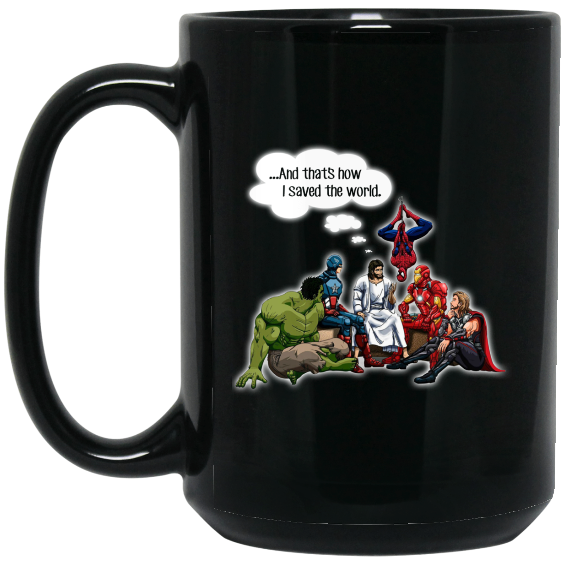 image 101px Jesus and Supperheros And That's How I Saved The World Coffee Mug