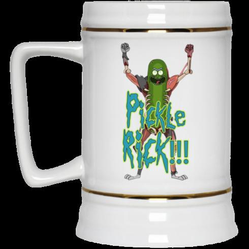 image 13 490x490px Pickle Rick Rick and Morty Coffee Mug